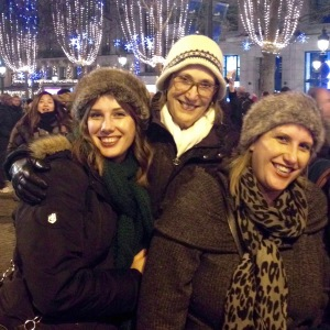 Teresa with her two daughters, Karly (left) and Kristyn (right) in Paris for New Year's Eve, 2014.